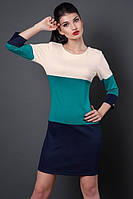 Трикотажное платье в широкую полоску