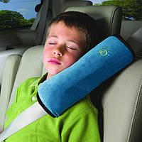Детская подушка на ремень безопасности Голубой (04051)