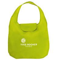 Эко сумка ив роше зеленая новая 37х57 см складная