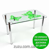 """Стол кухонный стеклянный """"Фоли S-2"""". Разные раскраски"""