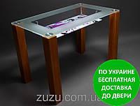 """Стол кухонный стеклянный """"МФ-2"""". Разные раскраски"""