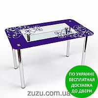 """Стол кухонный стеклянный """"Маки S-2"""". Разные раскраски"""