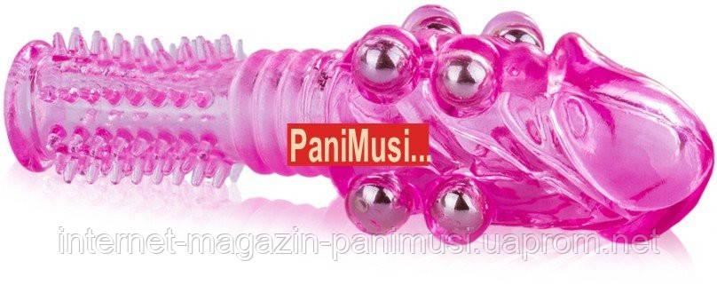 Насадка увеличивающая Пенис 8 шариков + пупырышки