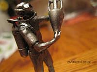 Фигурка статуэтка сувенир водолаз с амфорой металл сплав олова