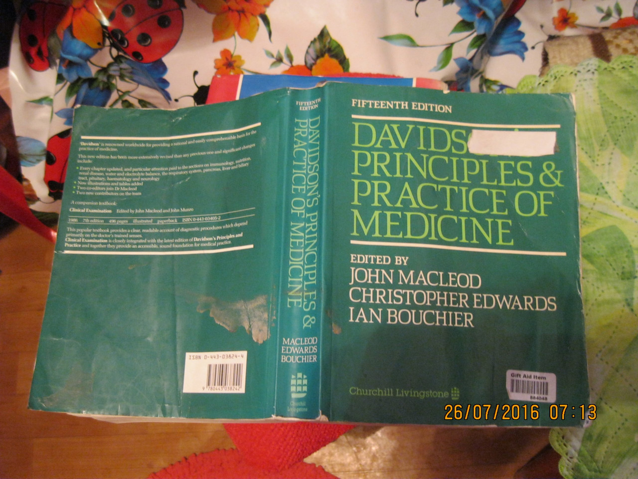 Davidsons principle and practice of medicine Книга НА АНГЛИЙСКОМ медицина john macleod справочник