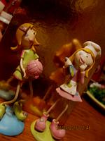 Фигурка статуэтки сувенир настольный девочки набор 2 КУКОЛКИ