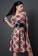 Молодежное платье в цветную клетку