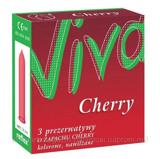 Презервативы со вкусом вишни Viva Cherry 3 штуки