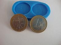 """Силиконовый молд """"Монеты 1 евро"""" Галетте - 02304"""