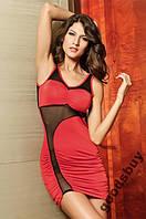1124DR Платье Красное Секси Вырез и Стринги S/M