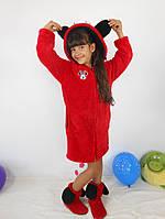 Халат для девочки Микки красный