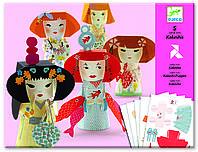 DJECO Художественный комплект оригами Японские кокетки