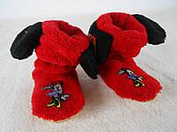 Стильные тапочки - сапожки красные для девочек