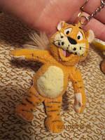 Тигр тигренок фирменный брелок мягкая игрушка б у
