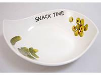 "Блюдо для закусок 23х4 см. ""Snack time"" фарфоровое"