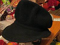 Шляпа берет 100%шерсть фирменная черная интересная