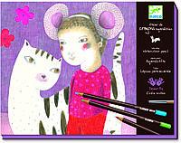 DJECO Художественный комплект рисование-апликация Художественная мастерская