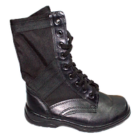 Ботинки Спецназ кожаные с черными вставками облегченки