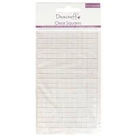 Прозрачные объёмные клеевые квадратики  Small Clear Adhesive Squares (264 шт), Dovecraft