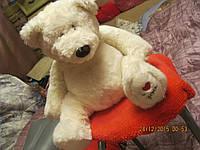 I LOVE YOU медведь белый мишка мягкая игрушка шикарный Б У.ХОРОШЕЕ СОСТОЯНИЕ