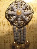 Брошь брошка старинная украшение подсеребро жемчуг
