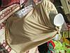 Шарф палантин круговой бежевый трикотаж стильно, фото 5