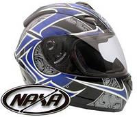 Мотоциклетный шлем каск NAXA F13E черно-синий