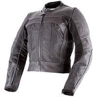 Кожанная мото куртка OZONE FOCUS II черная