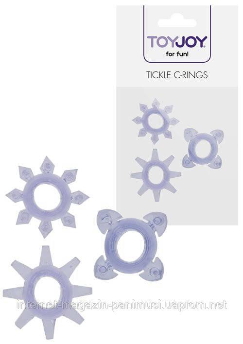 Комплект 3 насадок для пениса Tickle C-Rings
