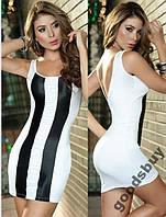1257DW Платье Белое Зебра и Стринги SML