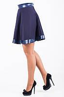 Молодежная женская юбка синего цвета Викки