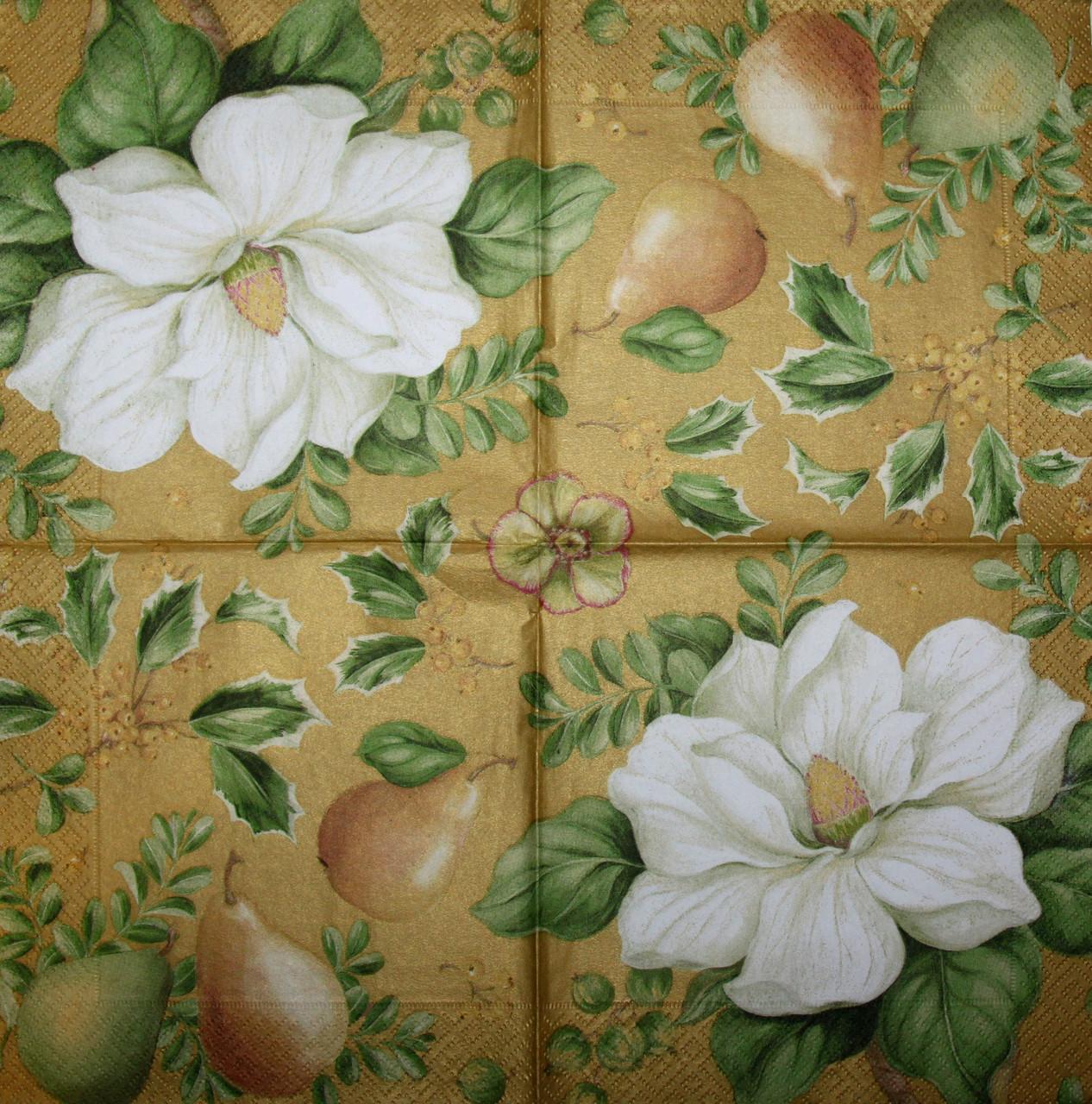 Салфетки декупажные Груши и цветы 6143