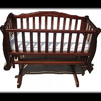 Кроватка Трия Колыбель с резьбой + Матрасик