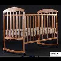 Кроватка Наталка опуск бок, качалка, колеса, фото 1