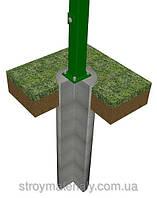Столб на анкерное крепление 58х38х1.5мм оц+ПВХ 2.5м