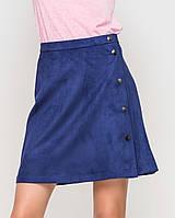 Замшевая юбка | 8404 sk синий