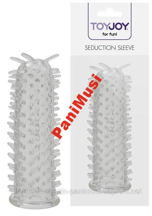 Насадка на пенис Seduction Sleeve Clear, 11 см