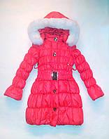 Куртка - пальто зимнее на девочек 116, 122, 128, 134, фото 1
