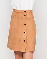 Замшевая юбка | 8404 sk горчичный
