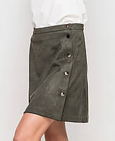 Замшевая юбка | 8404 sk т.зеленый