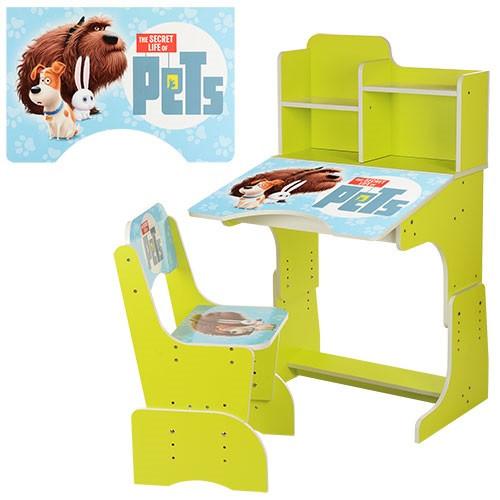 Парта детская со стульчиком Bambi W 2071 для дома Бамби регулируемая - фото 9
