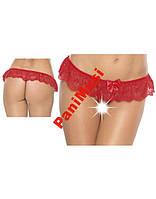 Красные стринги  Open Crotch String O-S/Red
