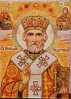 Икона из янтаря Святой Николай Чудотворец №2