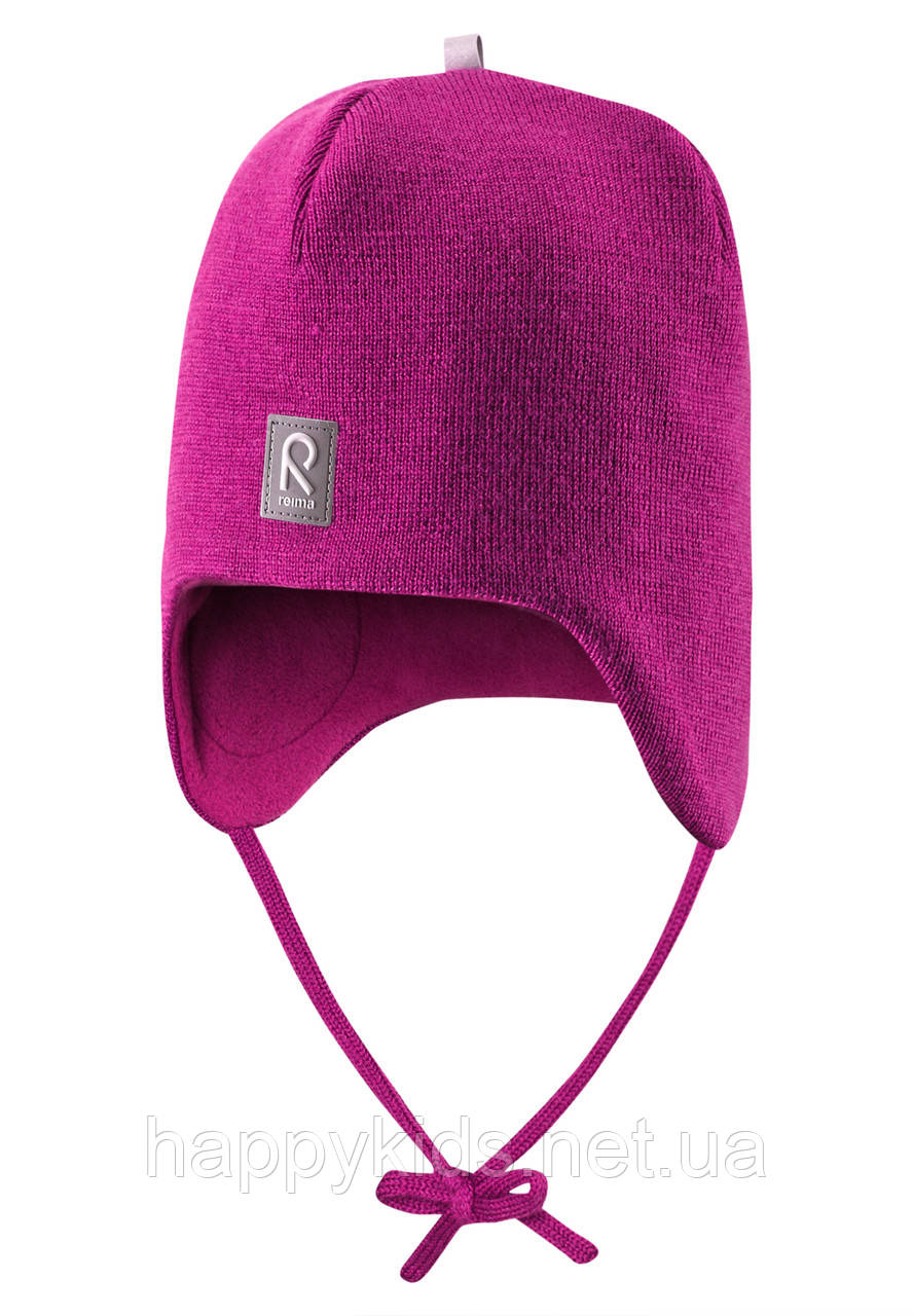 Вязанная зимняя шапка для девочки Reima 518316N-4620. Размеры 46 - 50.