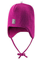 Вязанная зимняя шапка для девочки Reima 518316N-4620. Размеры 46 - 50., фото 1