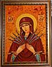 Икона из янтаря Семистрельная Пресвятая Богородица