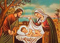 Панно из янтаря Иисус в колыбели