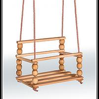 Качели деревянные Гойдалка(со спинкой)