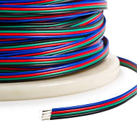 Dilux -Кабель плоский 4х0,35мм2 для RGB светодиодной ленты SMD5050, SMD3528