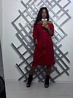 Платье-халат женское из креп-дайвинга под пояс